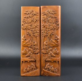 Chinese Carved Huangyang Wood Paperweight