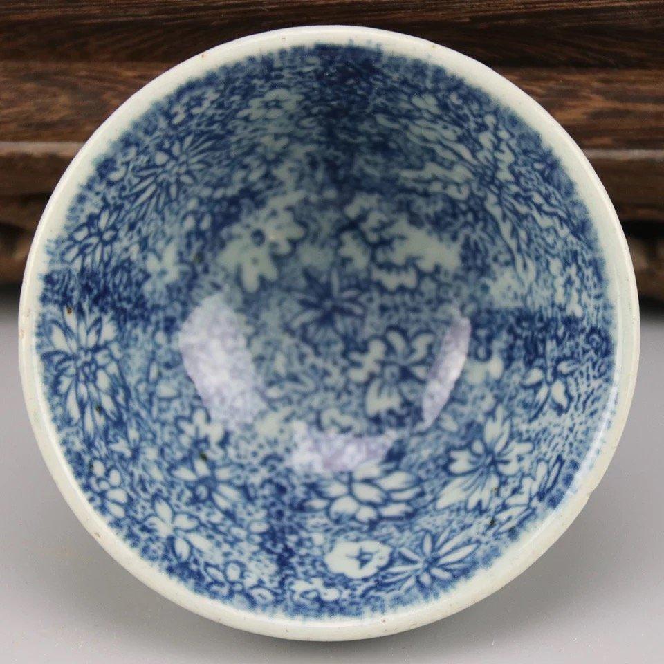 Antique Chinese Blue and White Celadon-Glazed Bowl - 2