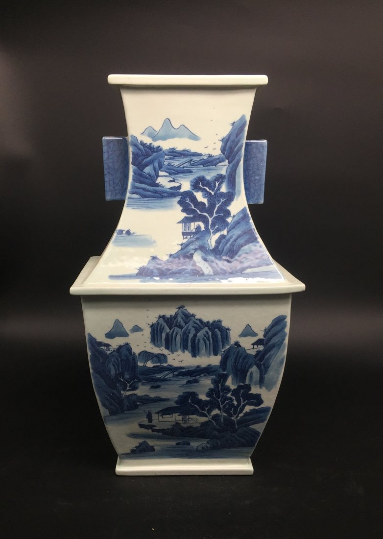 A Magnificent Kangxi Style Blue and White Vase