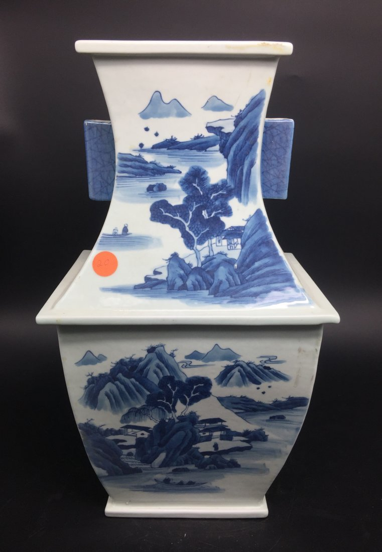 A Magnificent Kangxi Style Blue and White Vase - 3