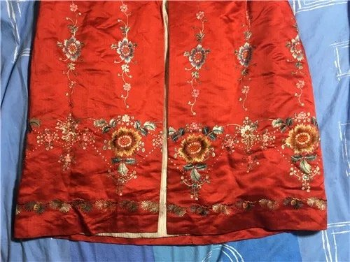 Antique Chinese Embroidered Silk Cloak - 2