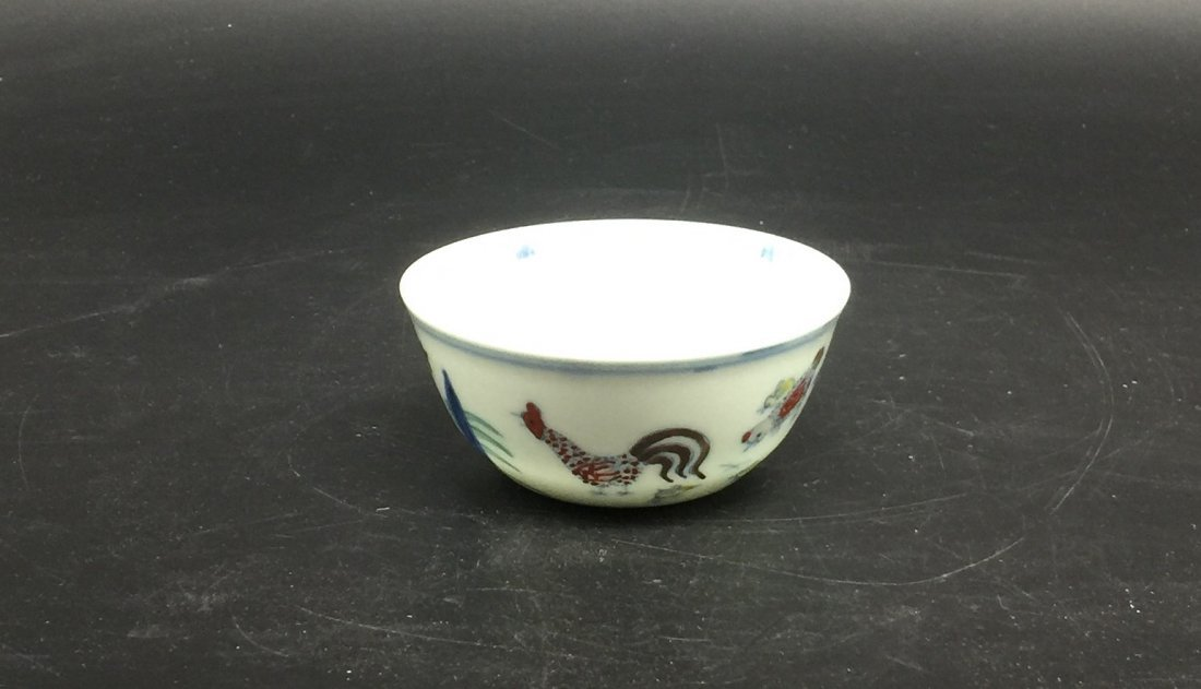 Antique Chinese Doucai Bowl - 3