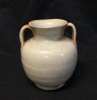 Antique Chinese WhiteGlazed Jar