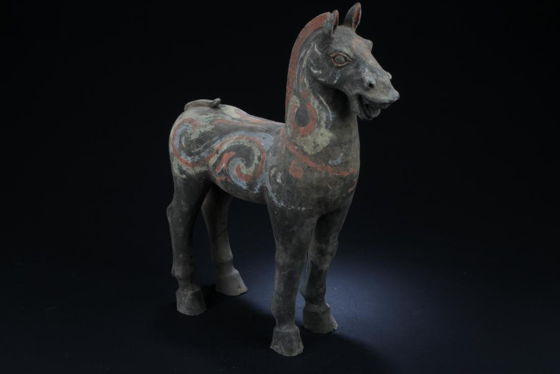 Chinese Pottery Horse Statue - 3