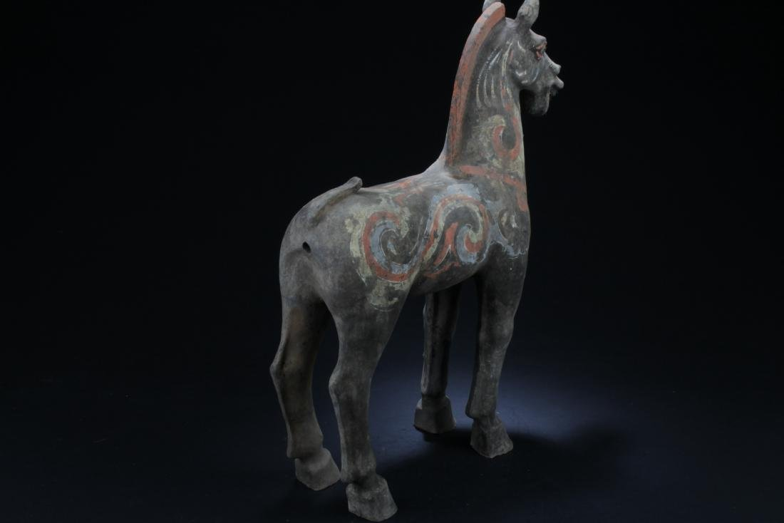 Chinese Pottery Horse Statue - 4
