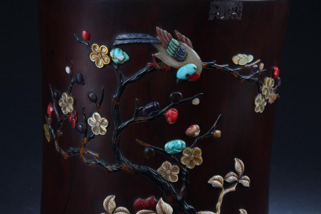 Chinese Hardwood Brushpot - 2