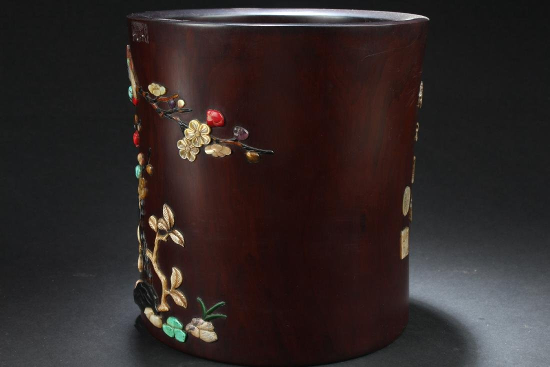 Chinese Hardwood Brushpot - 4