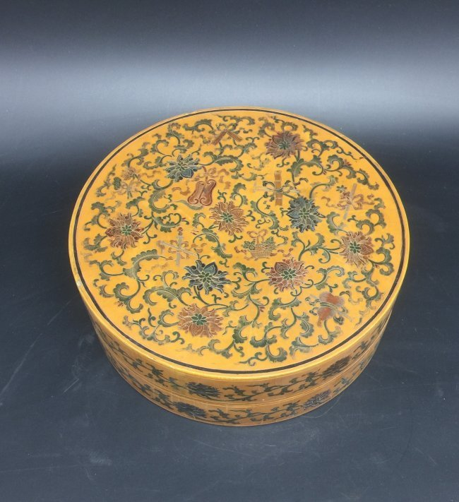 Antique Chinese Lacquer Box - 2