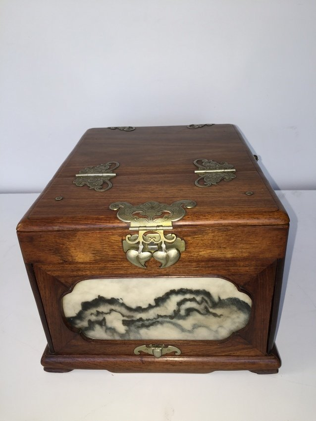 Rare High Quality Chinese HuangHuaLi Dressing Box