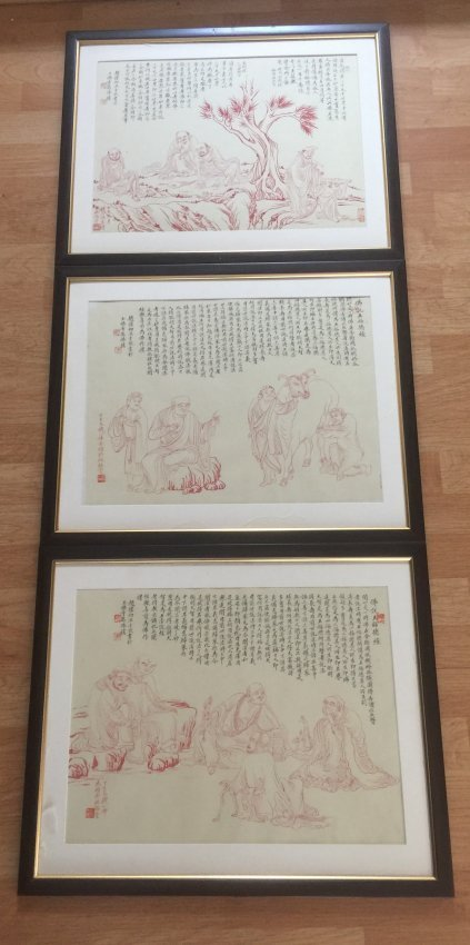 Three Pieces Chinese Painting Panels