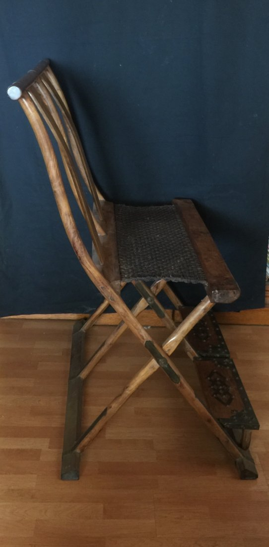 Antique Chinese Huanghuali Folding chair - 2