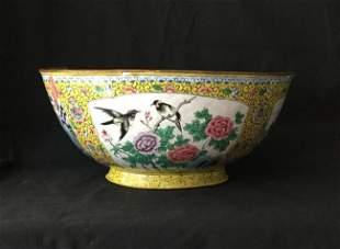 Antique Chinese Large Cloisonne Bowl