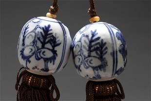 Two Porcelain Decorative Ornament