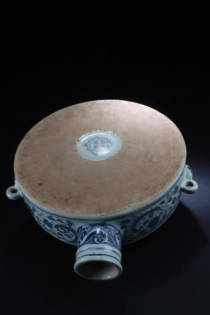 A Chinese Blue & White Porcelain Moonflask Vase - 5