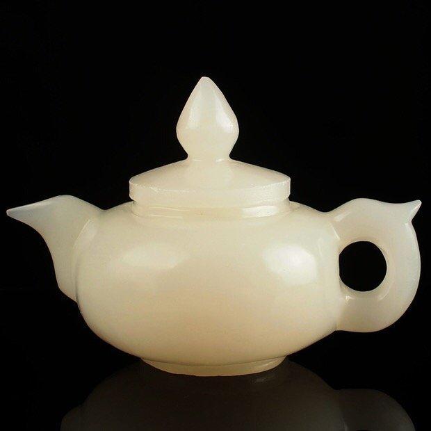 Chinese Jade Stone Teapot