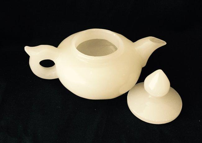 Chinese Jade Stone Teapot - 2