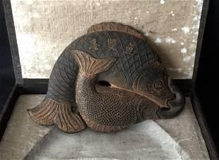 Antique Chinese Huizhou Ink Fish