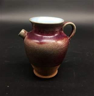Antique Chinese RosePurple Glaze Pitcher