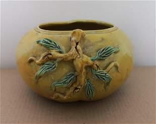 Antique Chinese YellowGlazed Washer