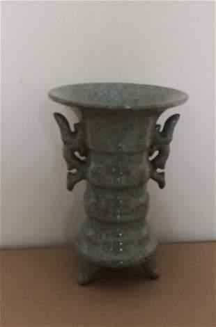 Antique Chinese CeladonGlazed Vase