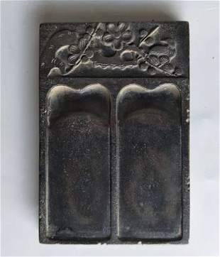 Qing Dynasty Carved Duan Ink Stone