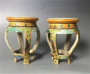 Pair of Antique Chinese Porcelain Famille Rose Sets
