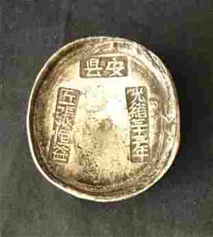 Antique Chinese Silver Ingots