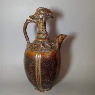 Chinese Yueyao Flambe Glazed Pot