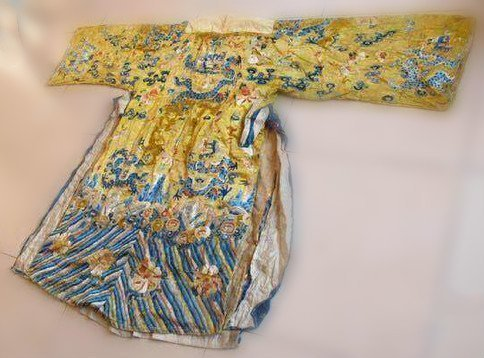 Qing Dynasty Embroidered Silk Robe