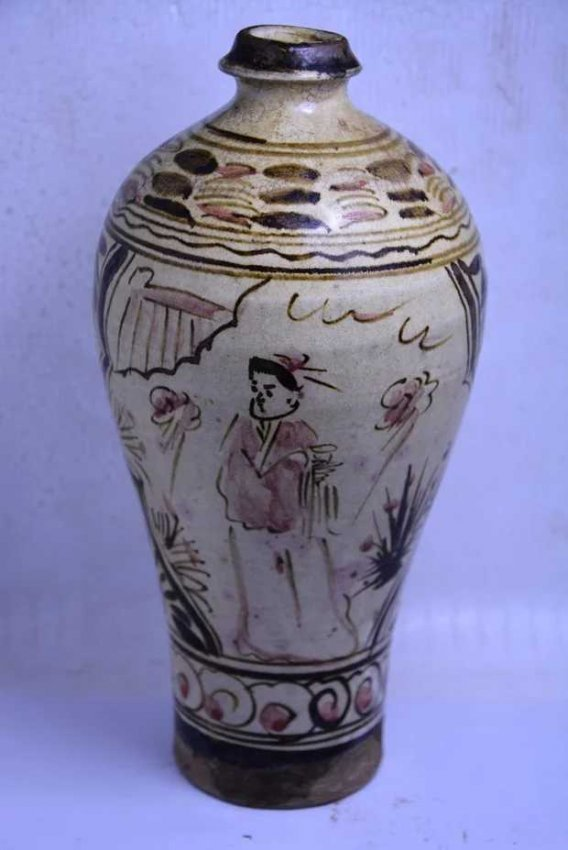 Antique Chinese Cizhouyao Meiping Vase