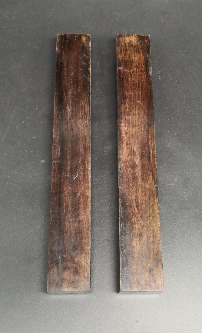 Pair of Hardwood Paperweight - 2