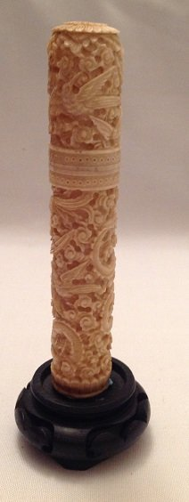Antique Ivory Hand Carved Box