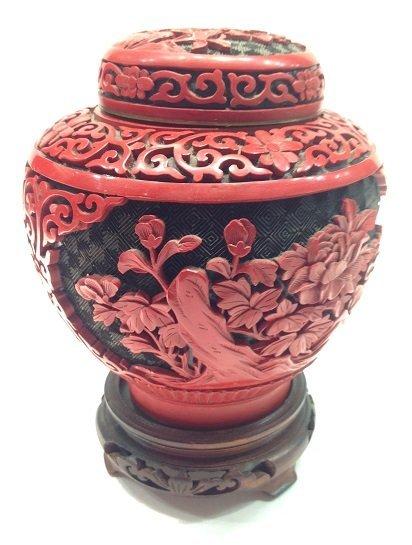 Cinnabar Cover Jar