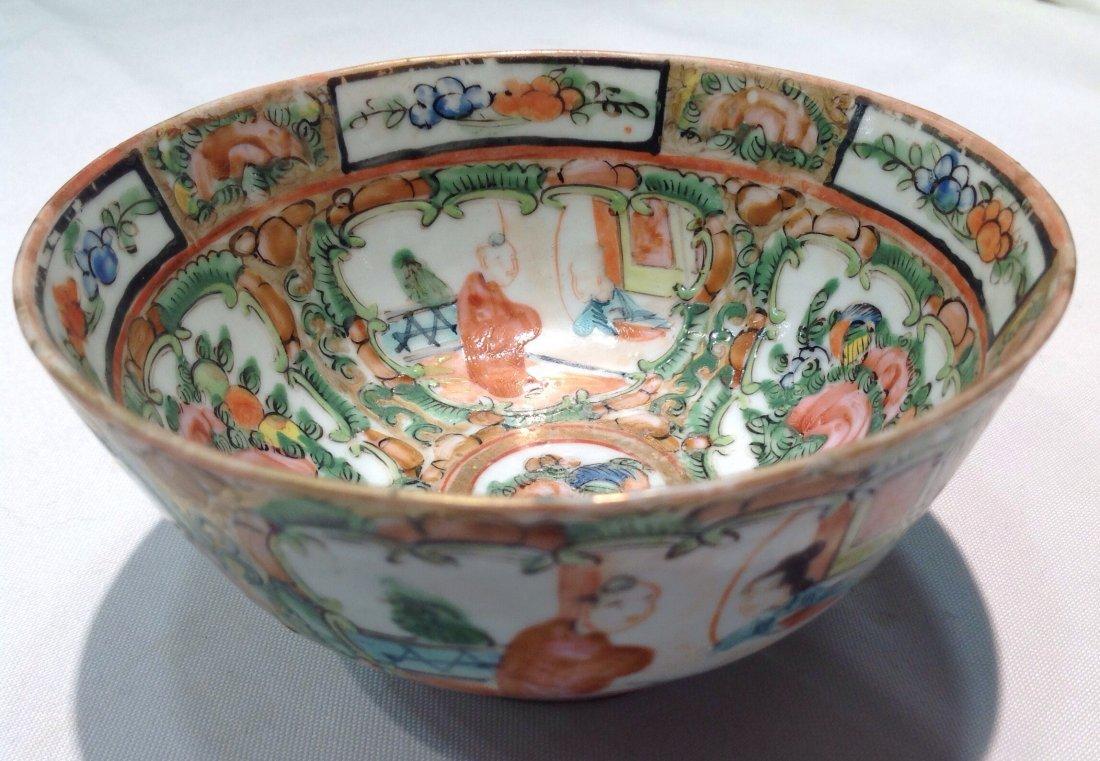 Qing Rose Canton  Bowl