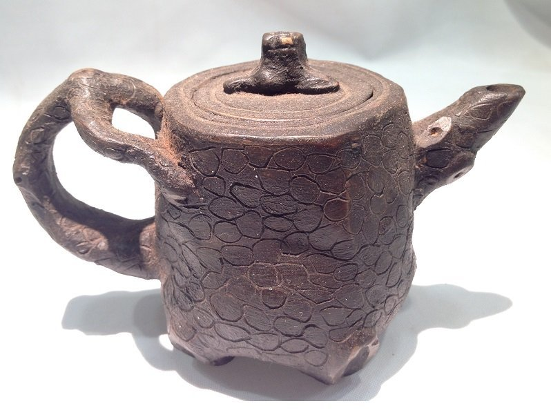 A Tree Root Style Wood Teapot