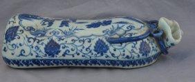 Blue and White Children Pillow Warmer