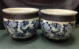 Qing Large QingHua Dragon Fish Jar