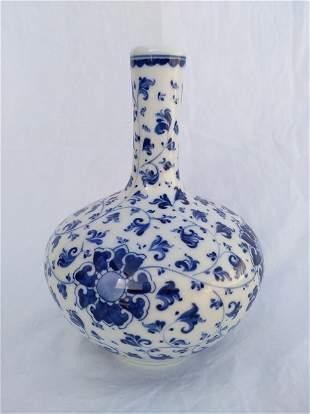 Chinese White and Blue Porcelain Vase