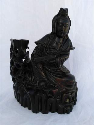 Chinese Wood Carving GuanYin