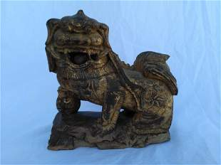Chinese Wood Carving Lion