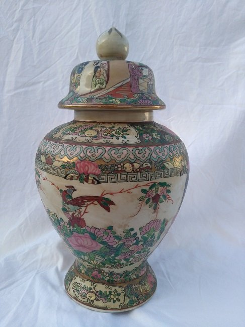 Chinese Porcelain Famille Jar Qianlong Nian Zhi Mark - 2