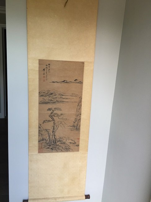 Antique Chinese Painting Scroll Landscape