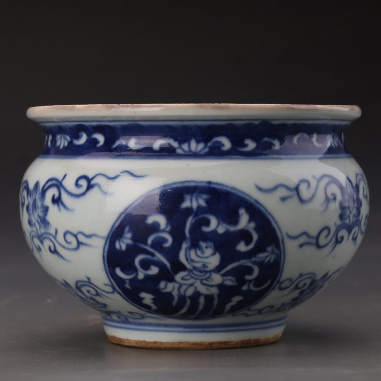 Chinese Blue and White Porcelain Incense Burner