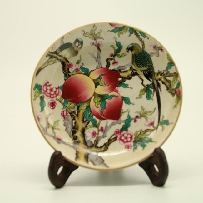 China ROC Famille Rose Plate