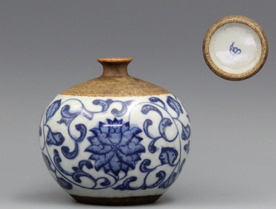Qing Hutianyao Blue and White Vase