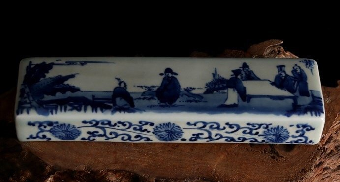 Qing Blue and White Paperweight