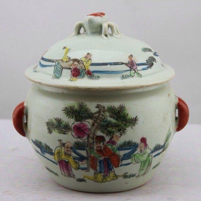 Antique Famille Rose Cover Jar