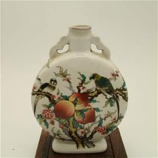 China POC Famille Rose Vase