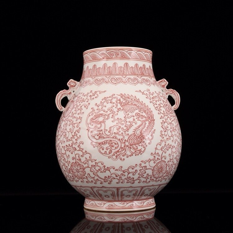 Chinese Copper-Red Vase