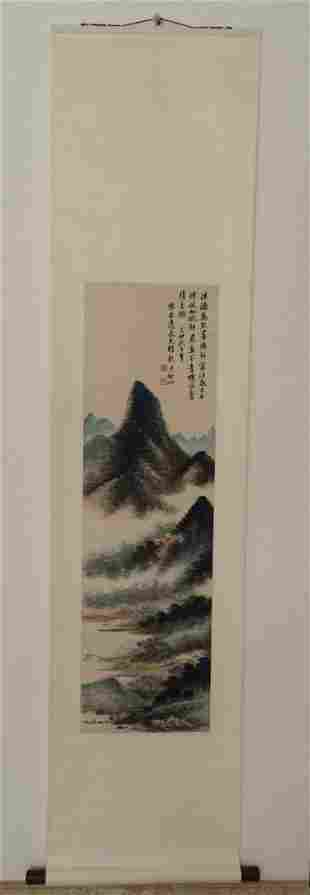 Chinese Painting Scroll Landscape